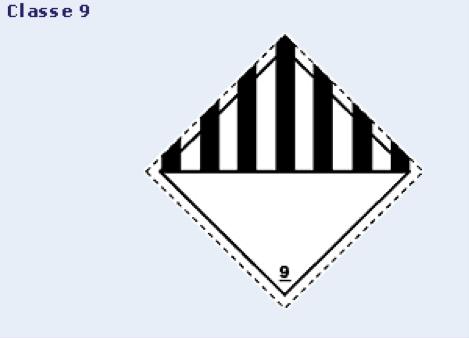 Eiquetas de Risco Primário - classe 9